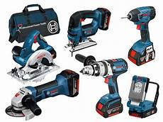 bosch bag6rs 18v 6pc cordless tool kit 3x 4 0ah li ion in