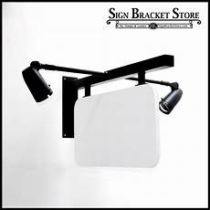 lighted sign brackets wall sign brackets with lights 36 quot palisades lighted sign bracket kit lighted wall