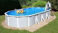 ovalbecken montage deluxe pool