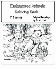 Ausmalbilder Verschiedene Tiere Endangered Animals Coloring Book 6 Different Species