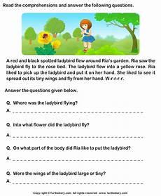 reading comprehension ria garden worksheet turtle diary