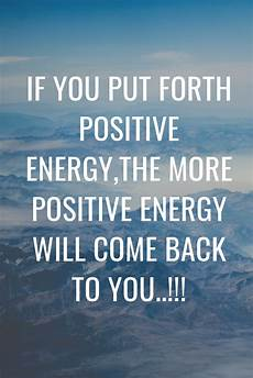 the more positive vibes you put out the more positive