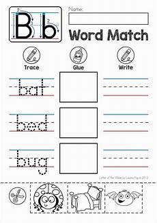 free back to school alphabet phonics letter of the week b literki cvc words preschool sight