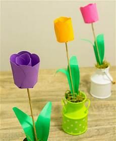 3d paper tulips allfreepapercrafts - Basteln Mit Kindern Frühlingsblumen