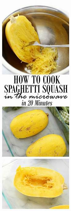 how to cook spaghetti squash in the microwave recipe
