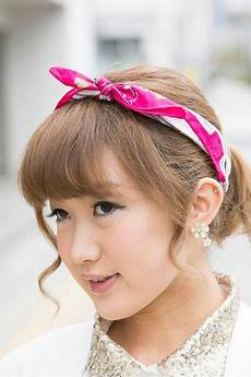 headband and curled fringe cool hairstyles for hair bows hair bows