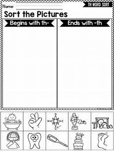 digraphs th words sort beginning and ending th digraphs