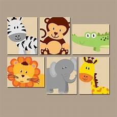 Jungle Animal Wall Safari Animals Nursery Decor