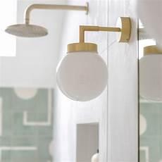 modern glass globe ip65 bathroom wall light