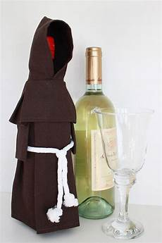 wine monk wine bottle cover costume and unique gift