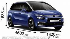 Citroen Grand C4 Picasso 2016 Dimensions Boot Space And