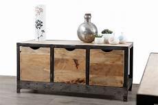 Kommode Atelier Industriell Holz Massiv Und Metall Zoom