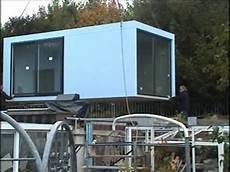 aufbau eines gartenhauses in ommersheim