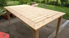 tisch selber bauen 2 gartentisch aus massivholz l 228 rche selber bauen so
