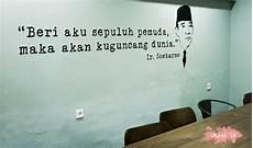 Bahasa Mural Hitam Putih Berupa Quote Soekarno Wall Dinding