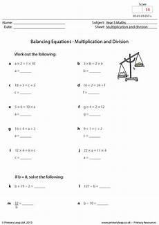 balancing equations multiplication and division primaryleap co uk