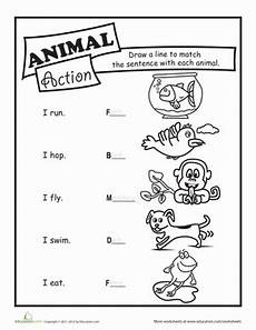 animal coloring pages for 1st grade 17301 animal verbs worksheet education