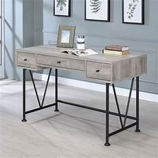 coaster home office furniture analiese small home office set grey driftwood by coaster