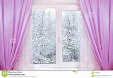 Winter Vom Fenster Stockfoto Bild Luft B 228 Ume Schnee