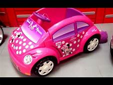 POWER WHEELS Minnie Mouse VW Car TOY REVIEW  YouTube