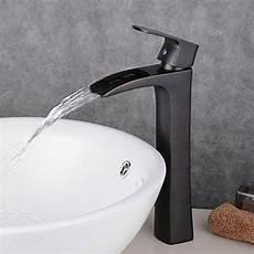 Wasserhahn Für Aufsatzwaschbecken - beelee bl0556bh hoch wasserfall waschtischarmatur