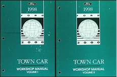 free car repair manuals 1998 lincoln town car navigation system 1998 lincoln town car original repair shop manual 2 volume set 98 workshop oem ebay