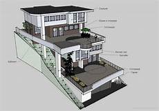 steep hillside house plans 45 amazing house plan on steep slope
