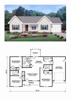 awesome 3 bedroom ranch in exclusive cool house plan id chp 39172 total living