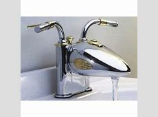 Designer Motorcycle 4 inch Centerset Lavatory Faucet