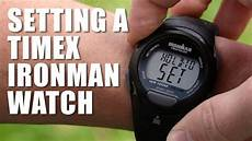 how to set a timex ironman triathlon