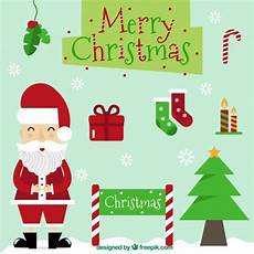 merry christmas illustrations vector free download