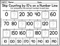 worksheets on skip counting by 10 s 11973 skip counting on a number line by 10 s worksheets by gameroom