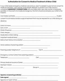 child medical consent form templates 6 sles for word