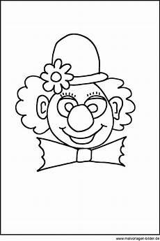 Fasching Ausmalbilder Clown Ausmalbild Clown Clown Basteln Vorlage Ausmalbilder