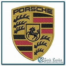 porsche car logo embroidery design emblanka