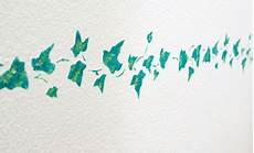 Schablonen Für Die Wand - wandschablonen mit wandfarben muster auf die wand malen