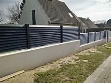 Cloture Aluminium Persienne Gris Anthracite Jardin Idees