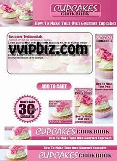 recipe card template for wix cupcake cookbook plr website templates pack