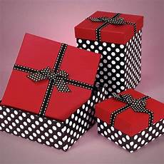 adorable red and black polka dot box filled with assorted
