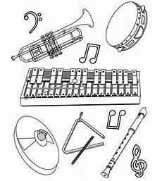 ausmalbilder instrumente mit bildern musik und