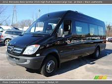 Jet Black  2012 Mercedes Benz Sprinter 3500 High Roof