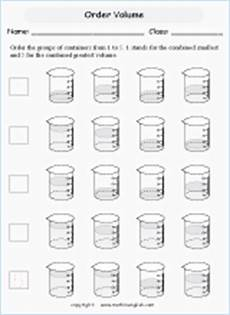 measurement capacity worksheets grade 2 1716 volume and capacity mathematics worksheets for primary students in esl setting math