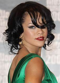 fashionable haircuts rihanna bob hairstyles curly