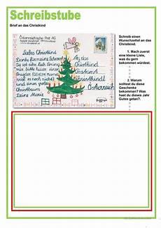 schreibstube brief an das christkind weihnachten in