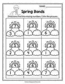 free spring math worksheets for kindergarten no prep math worksheets kindergarten math
