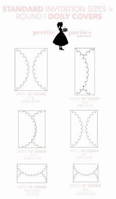 standard invitation decorative doily sizes weddinginvitations diy paperdecorations