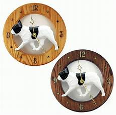 Inch Bulldog Wall Clock by Bulldog Wood Wall Clock Plaque Pied