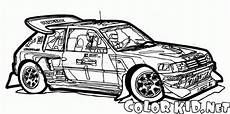coloring page race cars