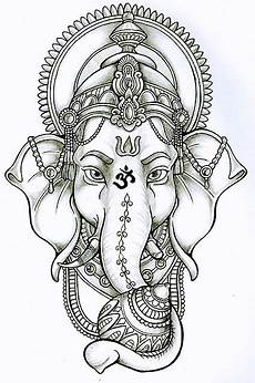 Ganesha Lotus Drawing Search Tattoos Ganesh