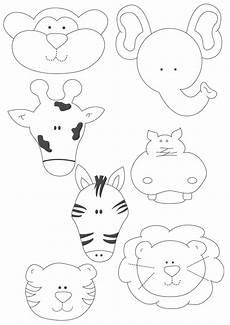 moldes de animales de fomi imprimir artesanias molde de regalo animalitos de la